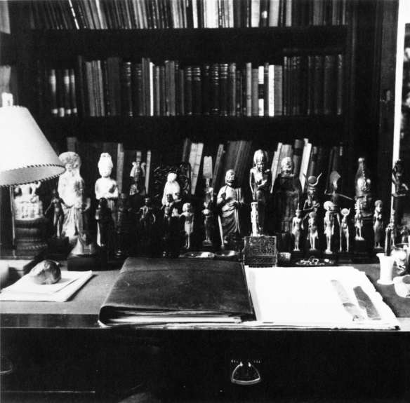 Sigmund Freud's apartment, Berggasse 19, Vienna, View of the writing desk in the study, 1938. Edmund Engelman. Photograph.