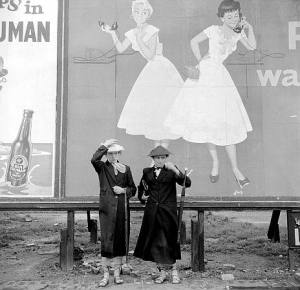 """The Party Line, Ken Russell, January 1955. From the series: """"The last of the Teddy Girls"""""""
