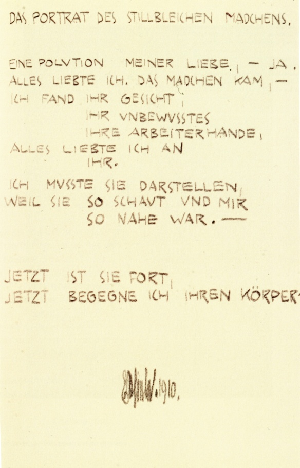 Egon Schiele, The Portrait, poem