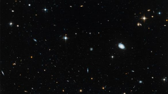 "Dwarf ""ghost galaxies"" Leo IV, Ursa Major and Hercules as seen by the Hubble Space Telescope, 2012."