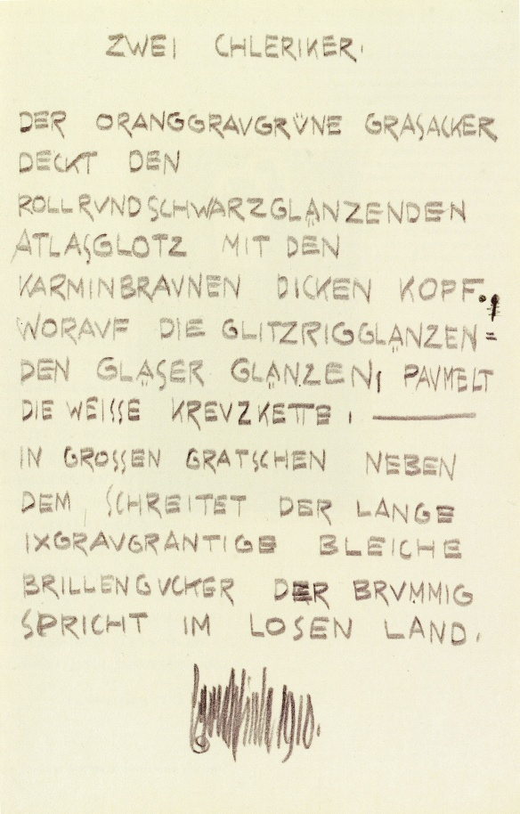Egon Schiele, Two Clergymen, poem